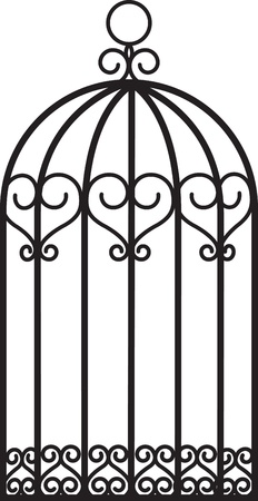 antique empty bird cage Stock Vector - 15799219