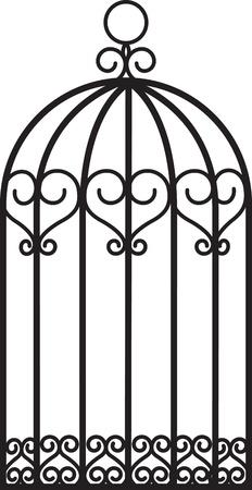 bird cage: antique empty bird cage