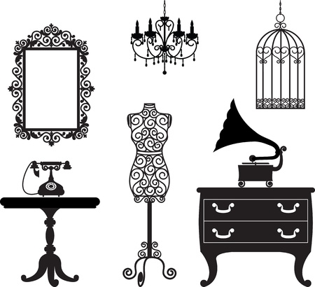 Antique furniture Stock Vector - 15799225