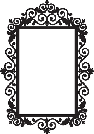 antique background: Antique frame