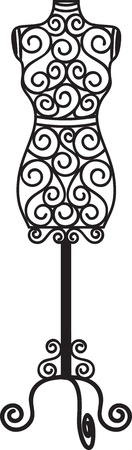 Vintage wrought iron mannequin Vector
