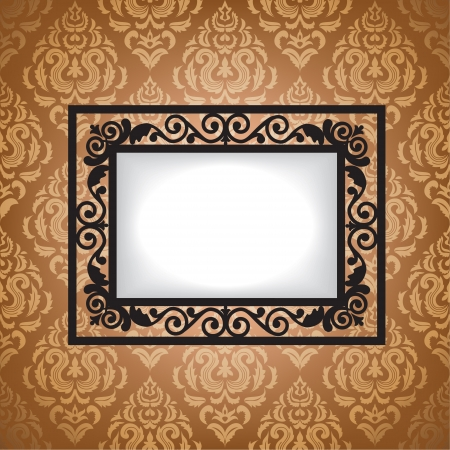 mirror image: Antique frame