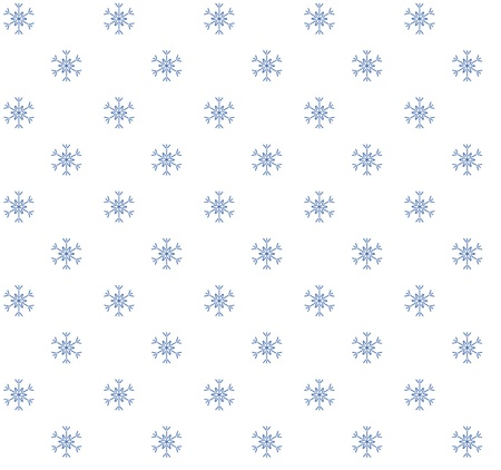 Blue snowflakes on white background  Seamless pattern Stock Vector - 15931226