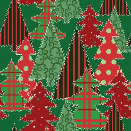 manta de retalhos: �rvore de Natal de retalhos de tecido de fundo transparente