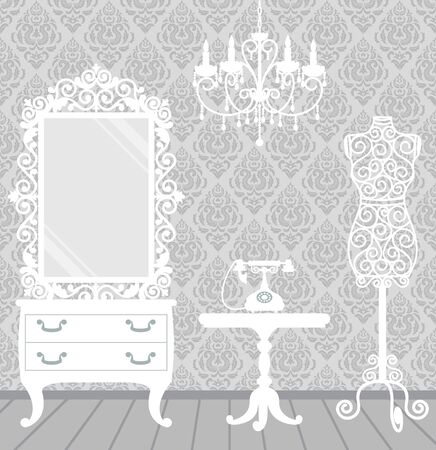 old mirror: Women Illustration