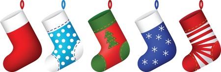 stockings: christmas socks set  illustration