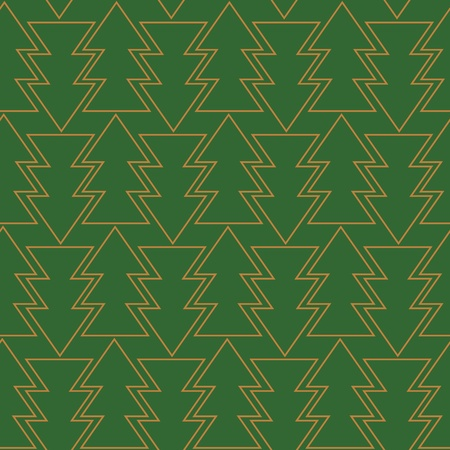new year  s day: seamless green background with trees silhouette pattern