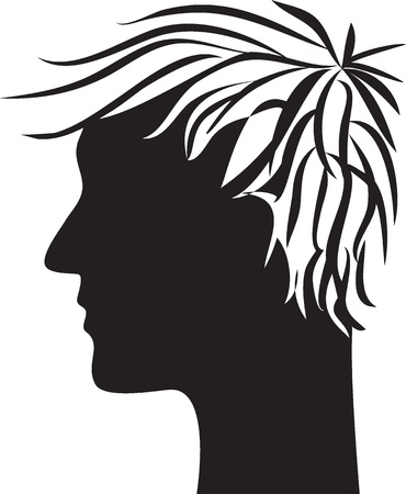 man head profile silhouette Stock Vector - 16354923