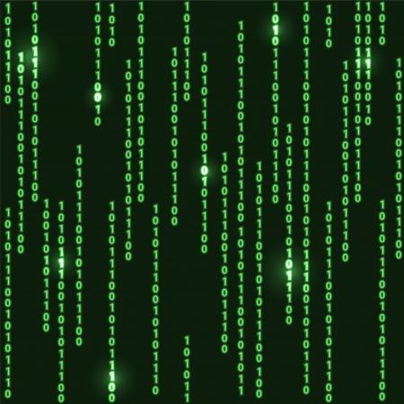 codigo binario: verde oscuro patrón transparente con código binario resumen ilustración de fondo con la tecnología de caída de estilo de la matriz