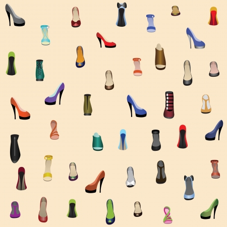 heeled: seamless background with shoes