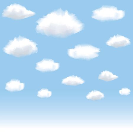 illustration of clouds in blue sky Stock Vector - 16355057