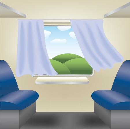 passenger compartment: empty compartment on the train