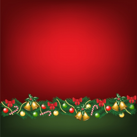 Christmas card with decorations Stock Vector - 16478102