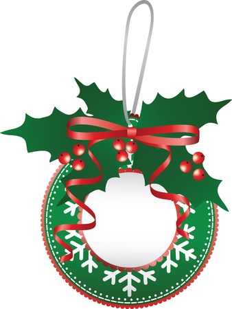 Christmas paper bauble Vector