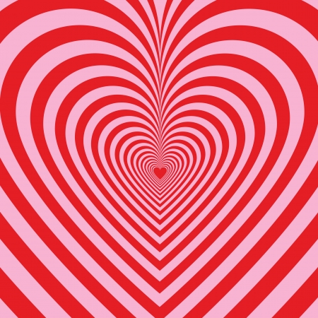 valentine passion: Stripped background with hearts