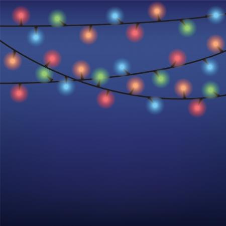 luminous: luminous garland on dark blue background