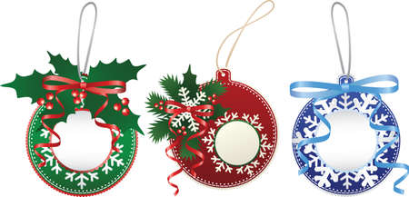 Christmas paper bauble set Vector