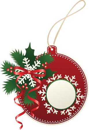 fiambres: Chuchería de papel de la Navidad Vectores