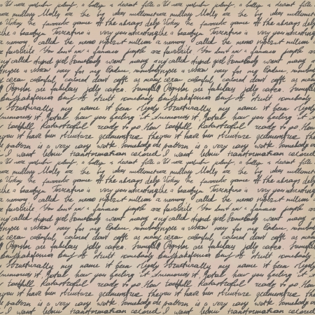 Seamless background with handwritten letter on vintage paper