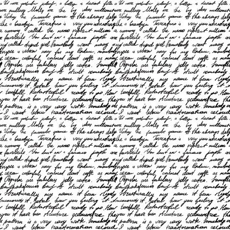 correspondencia: Fondo inconsútil con letra manuscrita Vectores