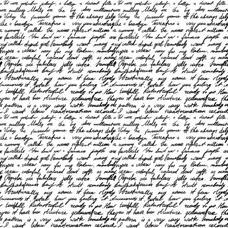 cursive: Seamless background with handwritten letter Illustration