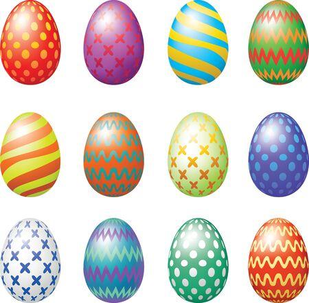 easter egg: Easter eggs set