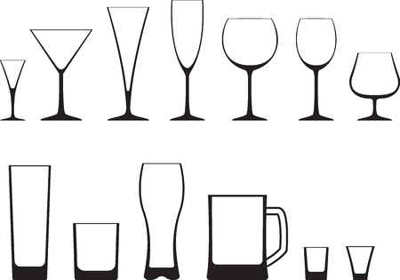 champagne: Set of glasses icon