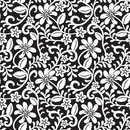 retro lace: Seamless lace floral pattern Illustration