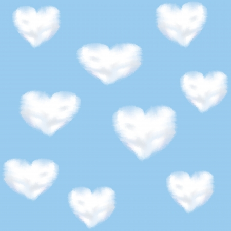 Blue sky and clounds shaped heart Stock Vector - 17311264