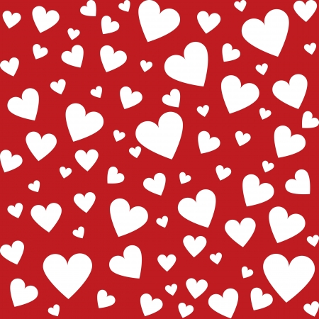 Valentine seamless background with hearts Stock Vector - 17311223