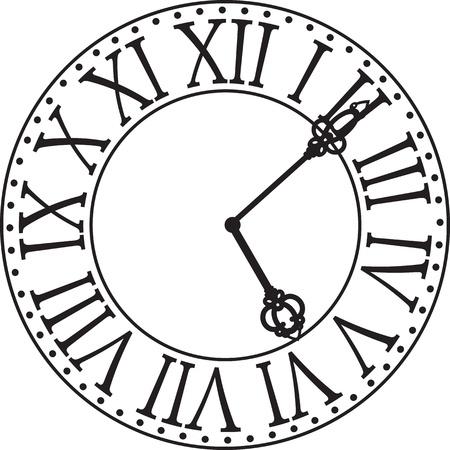 antique clock: antique clock face