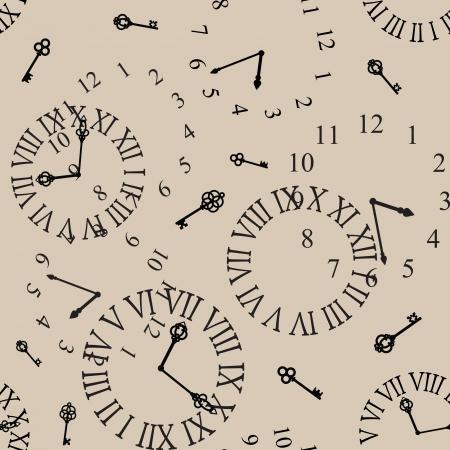 antique clock face seamless background Stock Vector - 17746361