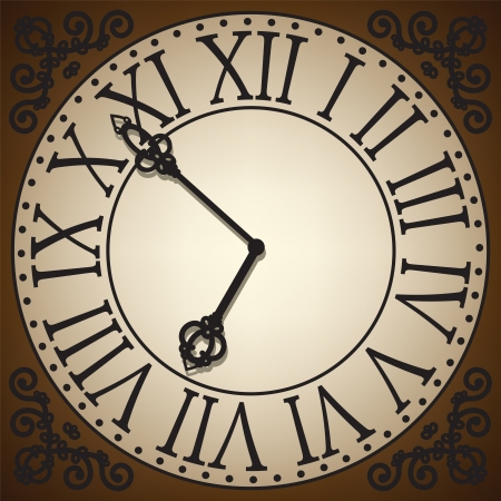 antique clock face Vector