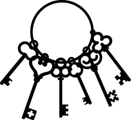 passkey: bunch of antique skeleton keys