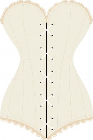 antiguo corsé con cordones Ilustración de vector
