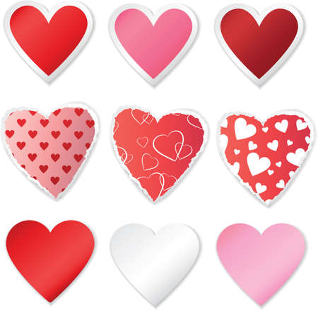 heart stickers set Stock Vector - 17746332
