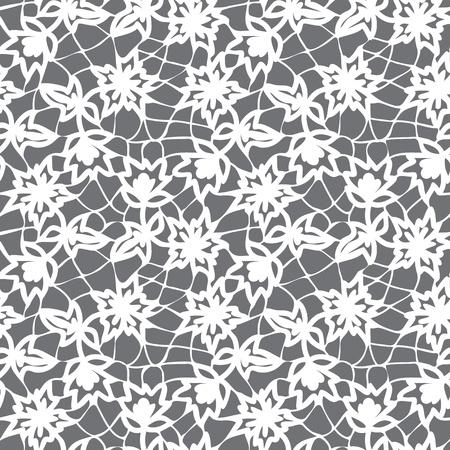 veters: bloemen naadloos kantpatroon Stock Illustratie