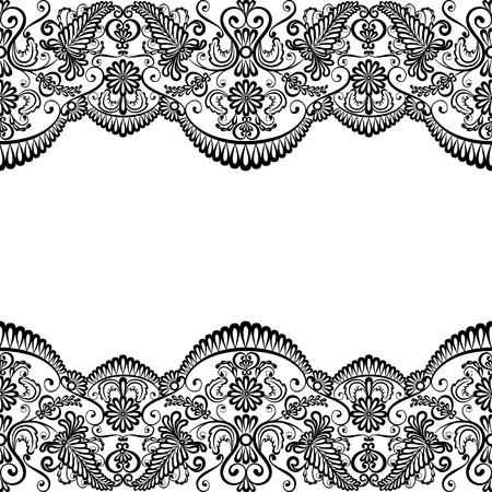 Sjabloon voor bruiloft, uitnodiging of wenskaart met kant stof achtergrond Vector Illustratie