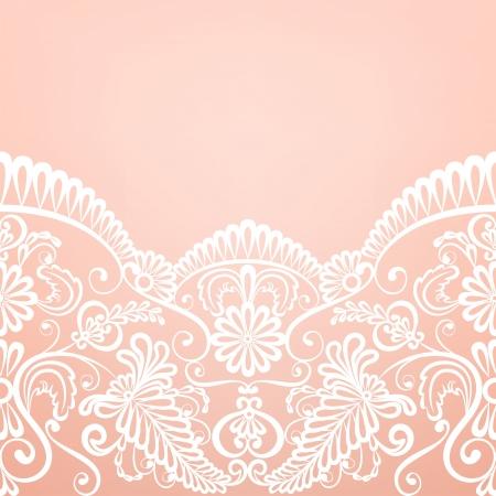 Vorlage Für Hochzeit, Einladung Oder Grusskarte Mit Spitze Stoff  Hintergrund Lizenzfreie Bilder   18375455