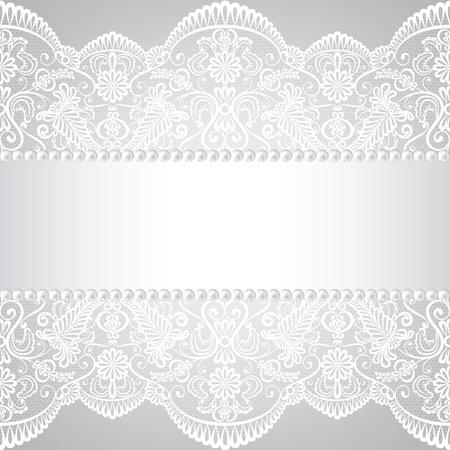 lace: Perla marco y encajes fondo