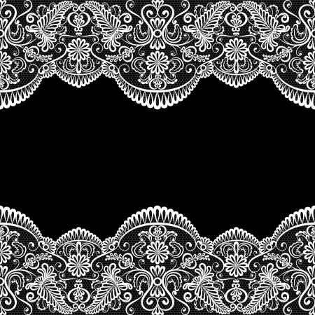 retro lace: Template for wedding, invitation or greeting card with lace fabric background