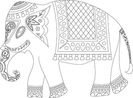 indian elephant: Elefante indio Vectores