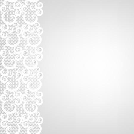 lace: Invitaci�n de la boda de tarjetas de felicitaci�n ar con borde de encaje y perlas