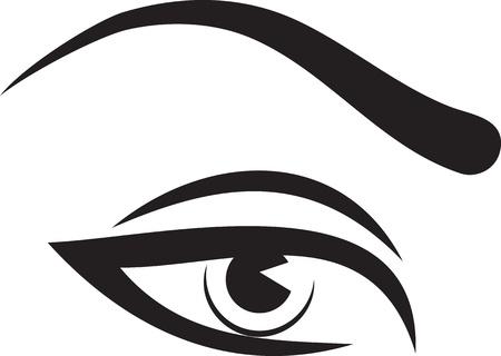 brow: Bella donna occhi e sopracciglia