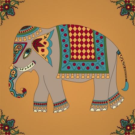 elefantes: Elefante indio Vectores
