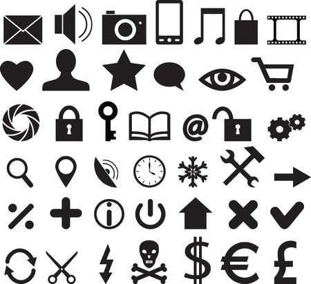 Set of web, buisiness and mobile icons Stock Vector - 18847697