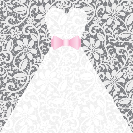 wedding accessories: Wedding card with white dress
