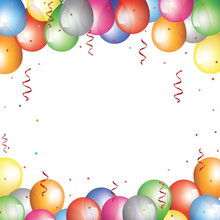 balloon border: Holliday backgraund with baloon border