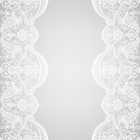 lace: Invitaci?n de la boda o de la tarjeta de felicitaci?n con la frontera del cord?n