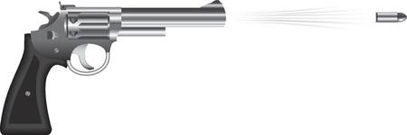Revolver firing bullet